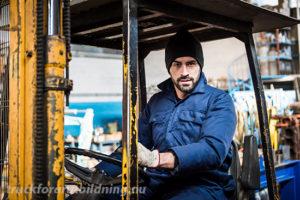 Truckförare i truck